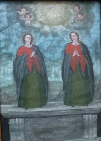 Cuadro de Las Santas Alodía y Nunilón del S XVIII